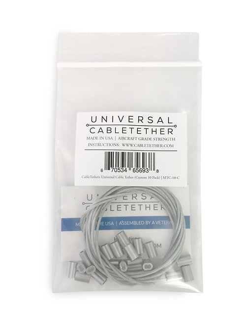 Universal Cable Tether (Custom 10 Pack)