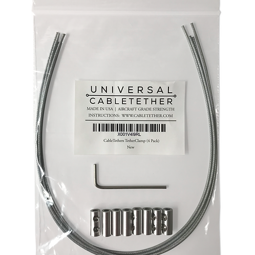 TetherClamp - Universal CableTether (4 Pack)