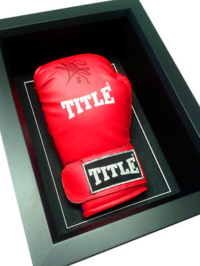 Signed boxing glove framed