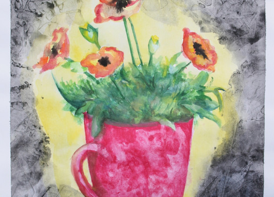 Poppies in Cup