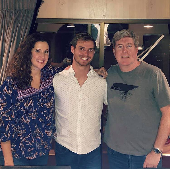 Freeman Arthur with Jake Burns and Amber Mogg Cathey at Loud Recording Studio
