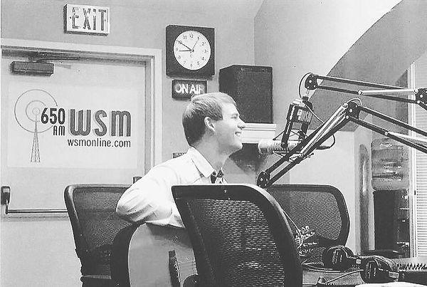 Freeman Arthur making his WSM radio debut