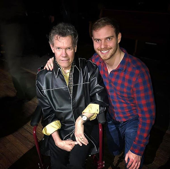 Freeman Arthur with Randy Travis at the Grand Ole Opry