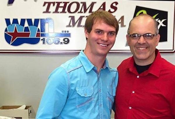 Freeman Arthur with Shane Conner at WYN 106.9 in Jackson, TN