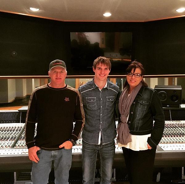Freeman Arthur with his parents at Ocean Way Nashville