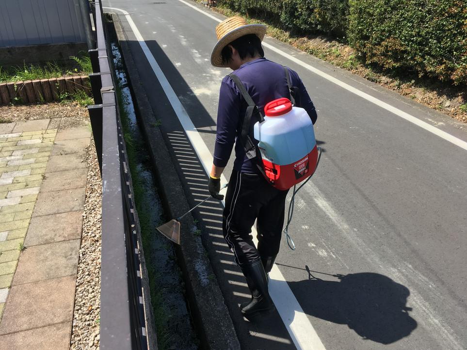 【除草剤 散布 雑草 管理】浜松市 浜北区 磐田市 えにしプランニング 便利屋