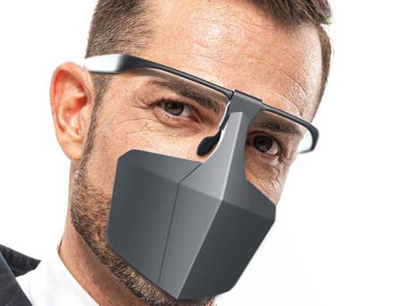 Innovative Gesichtsmaske aus recyclebarem Kunststoff