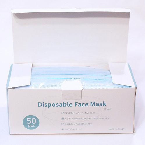 MNS Masken 3 lagig, 50 Stück