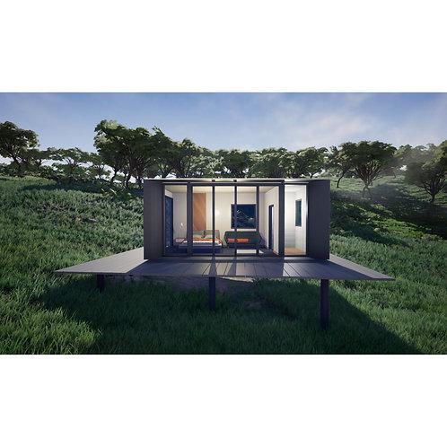 Holiday Style Moonbox Modernes Aluminium-Fertigteil-Container-Haus