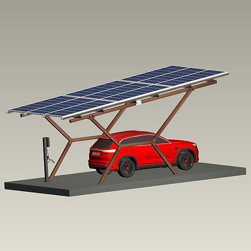 Solar-Montagesystem Solar-Carport-System Solar-Parkplatz-Struktur 3870W
