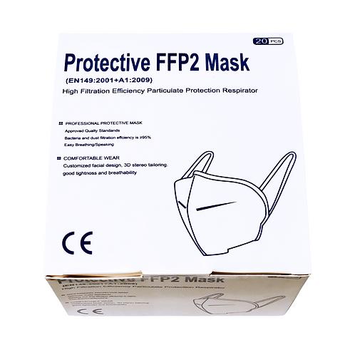 FFP2 Einweg-Gesichtsschutzmaske mit hoher Filtrationseffizienz, 20 Stück Packung