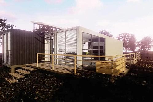 Individuell gestaltbares Containerhaus Fertighaus Luxusvilla