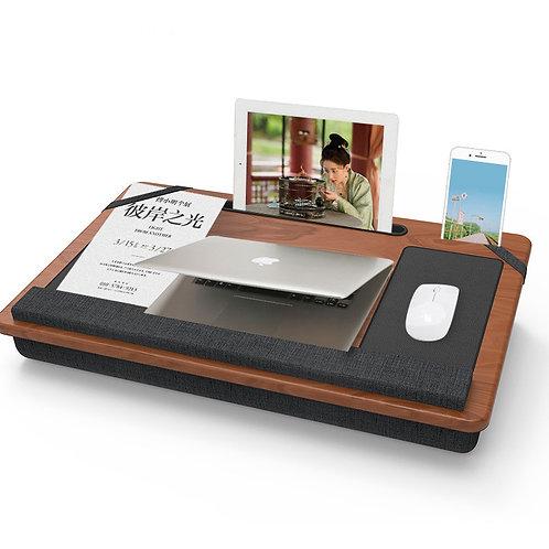 Home Office Lap Desk Passend für bis zu 17-Zoll-Laptop mit gepolsterter Handge