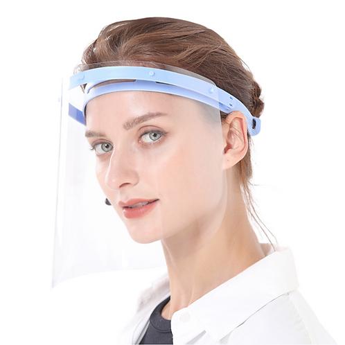Transparenter regulierbarer Gesichtsschutz