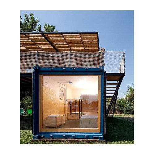 Holzpavillon Containerhaus Außenlagerhaus