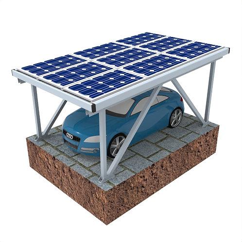 Wasserdichtes Carport montieren Solaranlage Solar-Carport Aluminium