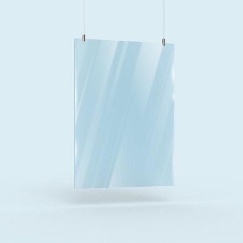 Hängende Acrylglas Trennwand