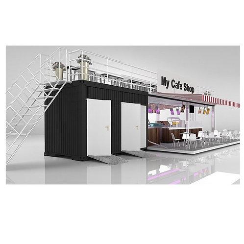 Popup Shop Popup Gastronomie Fertighaus erweiterbares Containerhaus