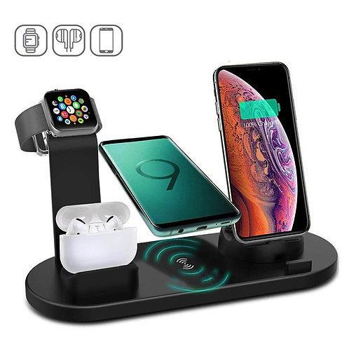 Kabelloses Ladegerät für Kopfhörer Smartphone Uhr Aufladen