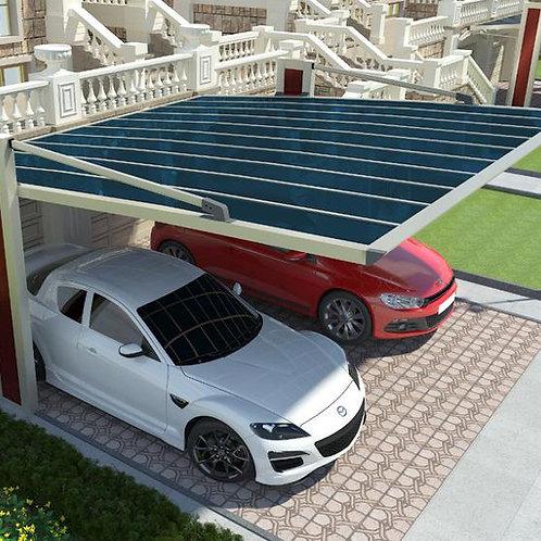 Solar-Carport Garage mit Solarmodul-Dach