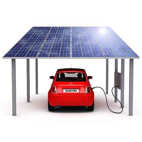 SOEASY Modernes Design Solar-Autoladegerät Carport Solarpanel-System