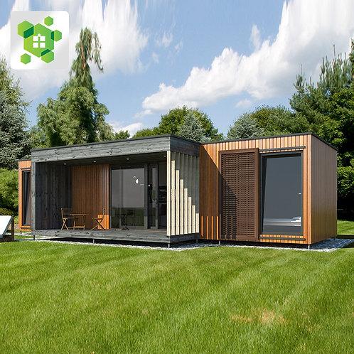 Stahl 20 Fuß kleine Container Häuser Wohnzimmer einfache Installation vorgefe