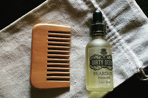 Beard Comb Beard Oil set