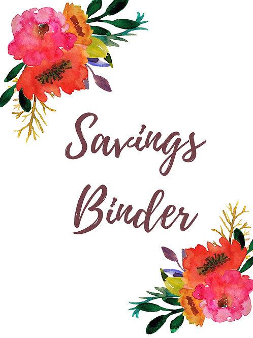 Savings Tracking Binder