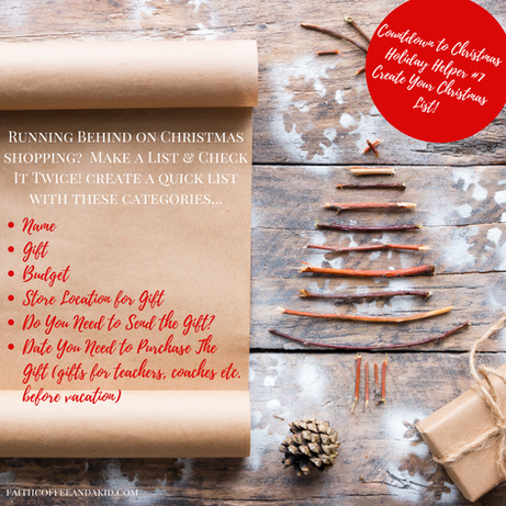 Countdown to Christmas Holiday Helpers! Holiday Helper #7!