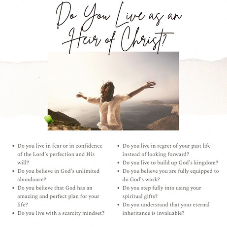 Do You Live as an Heir of Christ?
