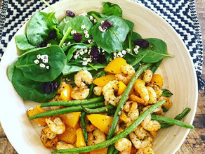 Save Time But Don't Skimp on Taste With This Air Fryer Lunch with Shrimp & Veggies