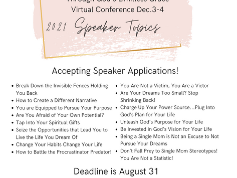 """Be a Speaker at the 2021 Single Moms of Faith...""""Empowered & Equipped"""" Virtual Conference!"""