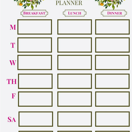 Download My Free Weekly Meal Planner!