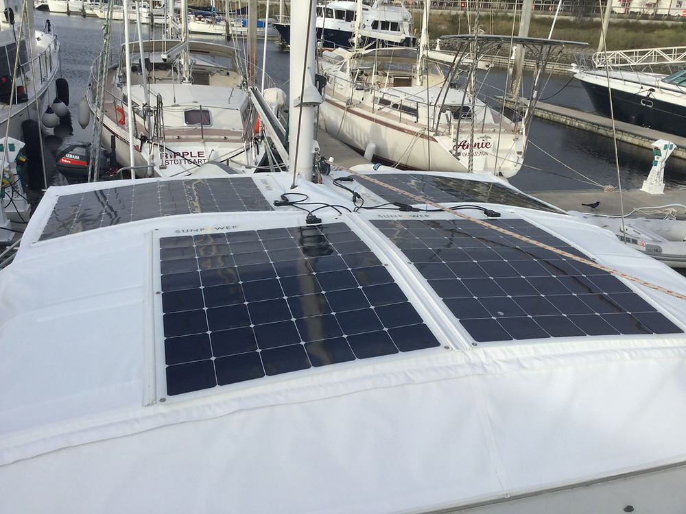 SunPower 170W flexible solar panels