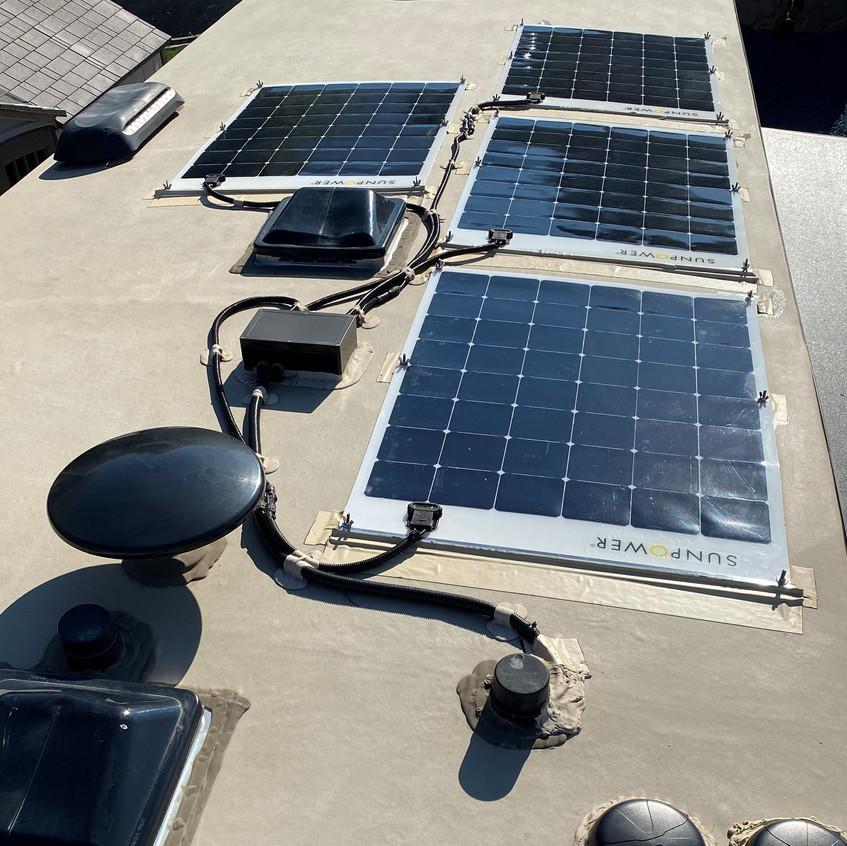 RV solar roof