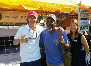Meeting Foxy himself from Foxy's Bar in the BVI