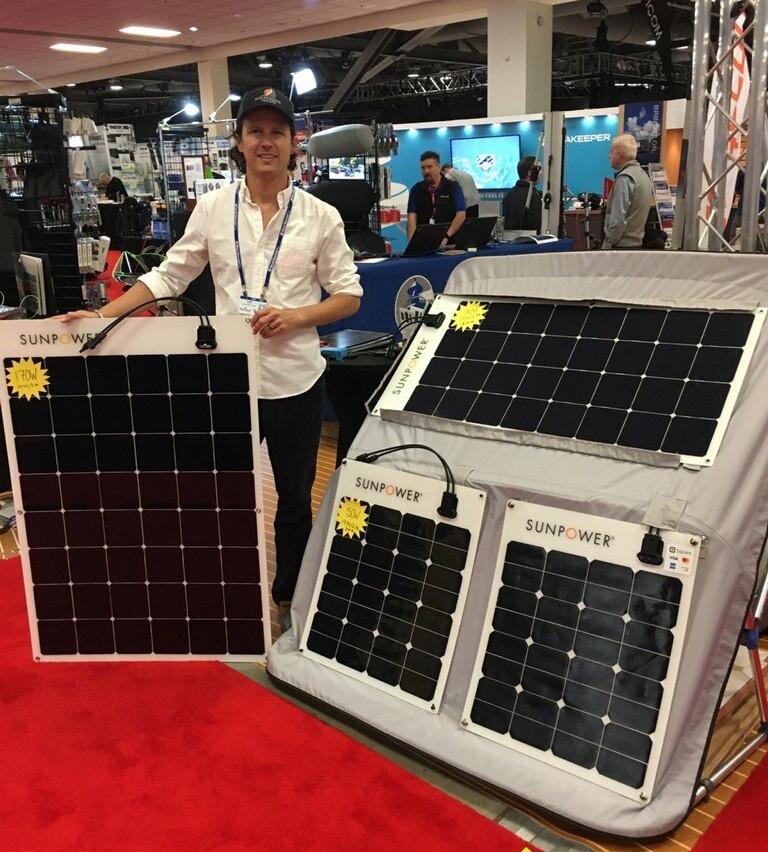 SunPower flexinle solar panels