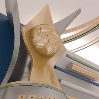 Brasileirão - Corinthians x Flamengo - 3D Motion Design