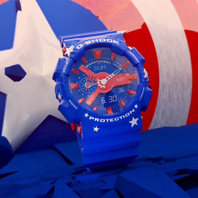 G-Shock - Captain America - 3D Motion Design