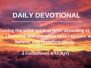 SPEAKING FAITH FILLED WORDS