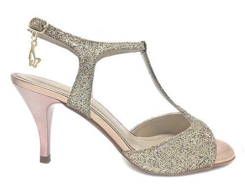 Heel 6.5cm Gold T-Strap ★お取り寄せ