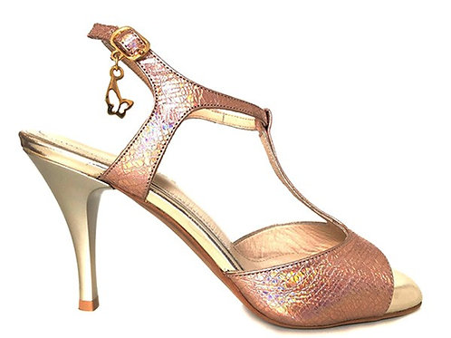 Pink Gold T-Strap