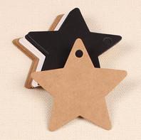 wholesale-100pcs-black-star-kraft-paper-