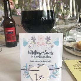 Beautiful wedding favour