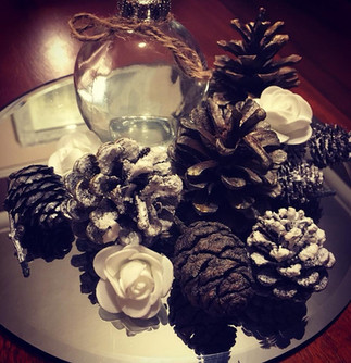 Cones and bauble centrepiece