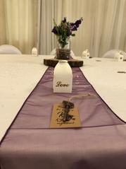Eggplant table runner