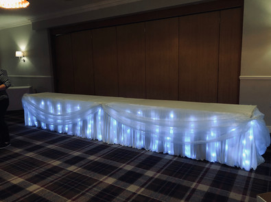 Twinkle Light Top Table Skirt