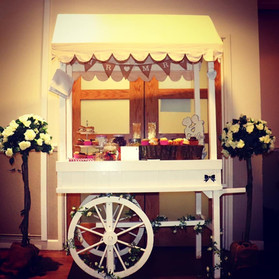 Sweet Cart and Rose Bushes