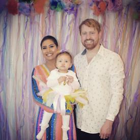Marlowe's First Birthday - Rainbow backdrop