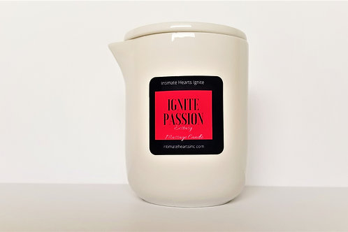 Ignite Passion, Ecstasy -  Aromatherapy Spa Massage Essential Oil Candle,